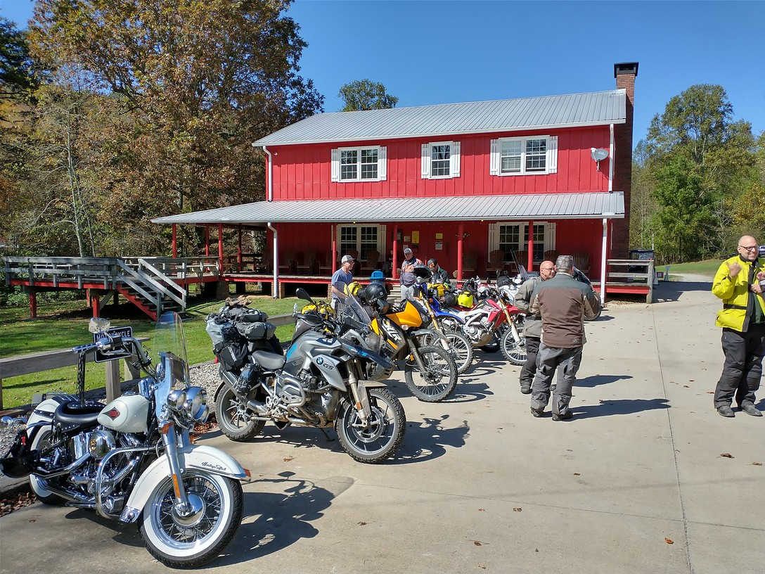 Two Wheels of Suches, a motorcycle destination and campground that John had been to when he first stated riding motorcycles in 1999. It had grown but was very much the same he remembered it.
